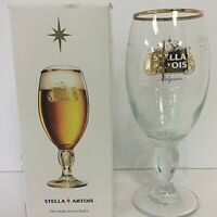 Stella Artois Beer Glass - Gold Logo And Trim-33CL- New