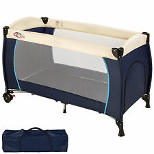 Lit bébé pliant lit de voyage enfant lit d'enfant parapluie parc pour bébé bleu
