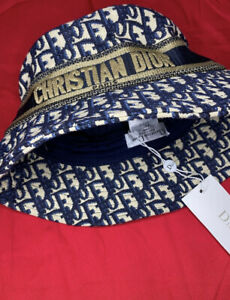 Women's Christian Dior Oblique Medium Brim Bucket Hat