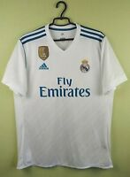 Real Madrid jersey 2017/2018 Home shirt men's LARGE adidas football soccer