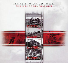 More details for maldives military stamps 2008 mnh wwi ww1 first world war 90th anniv 4v m/s ii