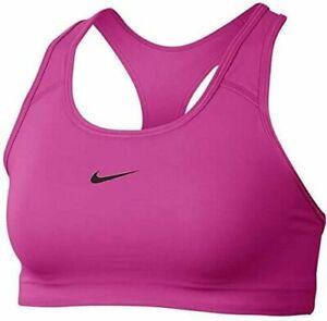 Nike Swoosh Women's Medium-Support 1-Piece Pad Sports Bra BV3636 Sz SMALL PINK