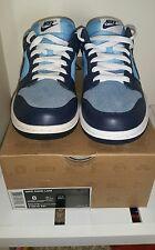Nike University Blue Dunk Low 318019-441 MEN US 8 North Carolina TARHEELS