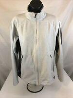 Columbia women's medium Interchange Fuzzy Fleece Jacket Light Gray