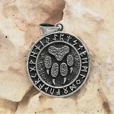 Bärenkralle Runenkreis Anhänger 925er Silber Symbol Schmuck - NEU
