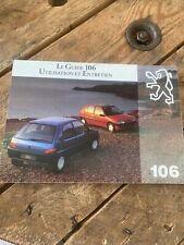 Manuel Notice D Utilisation Peugeot 106