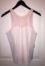 NWT $68 LUCY Pink Be Strong Tank Active Fitness Sports Shirt Yoga Top Women's M