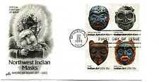 1834-37 Indian Masks ArtCraft, block of 4  FDC
