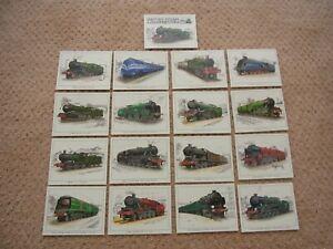 "British Steam Locomotives ""The Big Four"" Set off 16, Collectors Cards"