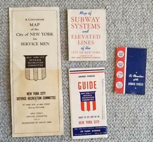 1945.New York City RETURNING G.I.'S.Four Items - three with maps - subways etc.