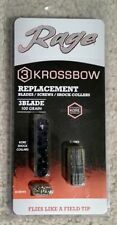 Rage Outdoors Krossbow Kore Replacement Blade Kit, 100 Grain, Silver 39505