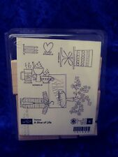 "NEW ""A Slice of Life"" Retired Stampin Up Hostess set, Coffee,Cake, Baby, Flowers"