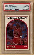 1989 NBA Hoops Michael Jordan Chicago Bulls #200 PSA 8 NM-MT New Slab