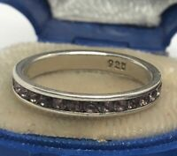 Vintage Sterling Silver Ring 925 Size 7 Amethyst Stone Band