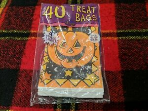 Vtg Halloween, Cats Pumpkins, Trick or Treat Bags, Candy, Party Paper Sacks