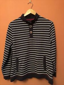 Ladies Blue Stripe Long Sleeve Top From Dash Clothing, Size 16