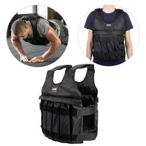 50KG Adjustable Weighted Vest Loss Training Running Jacket Waistcoat