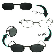 Brillenfassung Brille mit Sonnenclip Clip On Sonnenbrille Schwarz polarisiert
