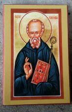 EASTERN ORTHODOX CHRISTIAN ICON ST.COLUMBA OF IONA
