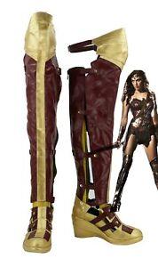 Wonder Woman Princess Diana of Themyscira Boots Cosplay Shoes Custom Made