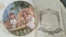 Cats in the Cradle 3rd Plate by Sandra Huck Hearts and Flowers Collection 2858c