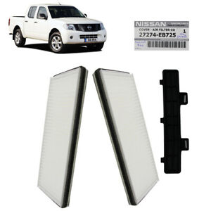 Fits Nissan Navara D40 2006 07 2011 12 13 Genuine Cabin Air Filter + Cover White