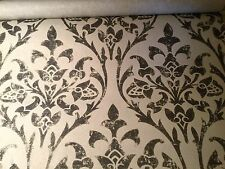 "SPECIAL! 4yd CAVALLI Cavalli Damask"" Hand Print Wallpaper Black Gold $400 Retail"