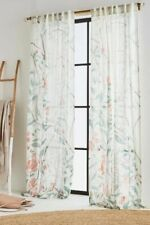 "NEW ANTHROPOLOGIE LILYA CURTAIN WINDOW PANEL 50"" X 63"""