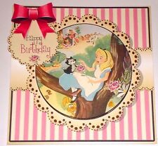 Handmade Greeting Card 3D Birthday With Alice In Wonderland  Sentiment Inside