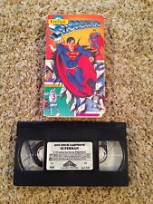 Superman / One Hour Cartoons - VHS Video Tape - Superhero - Vintage - Animation