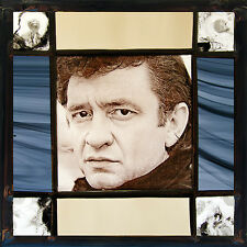 Johnny Cash stained glass, Johnny Cash suncatcher, stained glass, Johnny Cash
