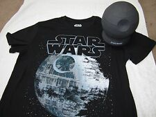 New - Collectible Death Star figure, Mens Star Wars T-Shirt inside. (size small)