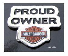 Harley Davidson Proud Owner Bar and Shield Vest Pin Obsolete Item