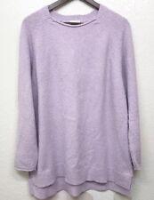 Pure Jill Sleep J Jill Scoop Neck High Low Marled Tunic Sweater Lilac Sz M