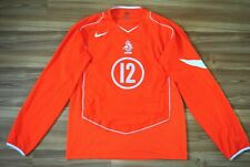 SIZE XL HOLLAND 2004/06 HOME NIKE FOOTBALL SHIRT JERSEY PLAYER ISSUE LONGSLEEVE