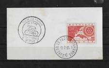 """Timbre Belgique (o) obl. """" tour de France vélo 1955 Namur """" bureau automobile"""