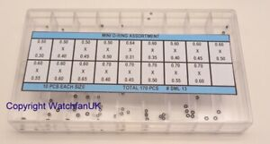 Set of Micro Gaskets For Crowns Pushers 17 Different Sizes Very Useful