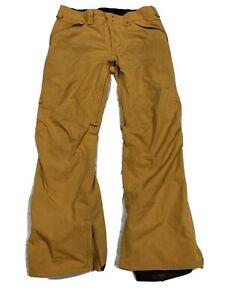 Mens Burton DryRide Snowboard Ski Pants Yellow Size Large