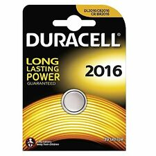 10x PILA Bottone Duracell Cr2016 Batteria Litio 3v