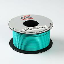 100FT GREEN PRIMARY WIRE 16 GAUGE AWG STRANDED COPPER POWER REMOTE CAR 12 VOLT