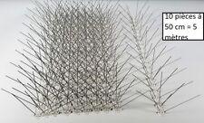 10 pc (5m) Pics anti pigeons , 5 rangées de pointes en acier inoxydable