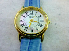 WOMAN GUESS WATCH NO SCRATCHES SUPER GREAT LOOK NEW BATTERY/LEATHER BELT