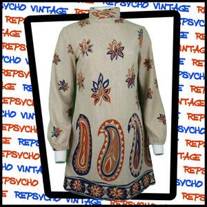 Vintage SIMON MASSEY by Janice Wainwright Mini DRESS     Size 12           375 W