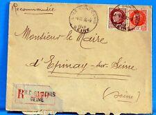 FRANCE   WW2 MARECHAL PETAIN SUR LETTRE    1941 PE63