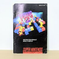 Tetris 2 SNES Super Nintendo Original Instruction Booklet Manual