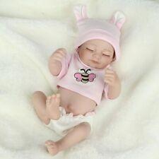 Reborn Baby Girl Doll Full Vinyl Silicone Finished Newborn Dolls Nursery Bath