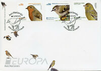 Portugal Azores Madeira 2019 FDC Birds Europa Robin Goldcrest 3v Cover Stamps