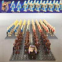 21pcs Star Wars Battle Droid + Captain Minifigures for CUSTOM LEGO Minifigure