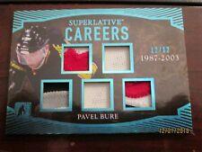 2017 LEAF SUPERLATIVE HOCKEY CAREERS 1987-2003 (5) Relics #12/12 Pavel Bure
