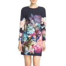 Ted Baker London Vyra Floral Tunic Sheath Dress Womens Size 1 US 4 Romantic Sexy
